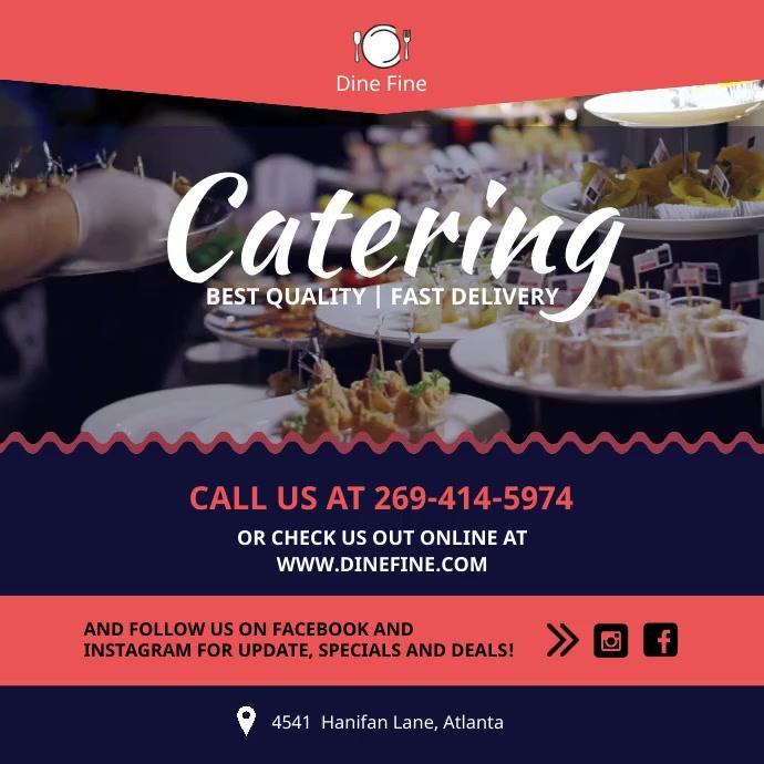 Pink Food Catering Service Instagram Video Te template