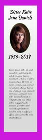 Pink Funeral Keepsake Bookmark Half Page Legal template