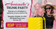 Pink Girl's Trunk Party Facebook Post Templat template