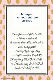 Pink Gold Polka Dot Baby Girl Announcement Invitation Card