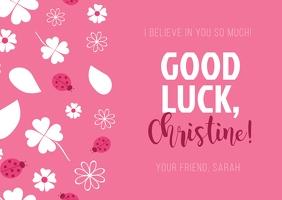 Pink Good Luck Postcard