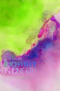 Pink Green Bright Paint Simple Modern Event Club Venue Art