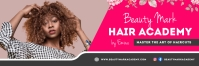 Pink Hair Salon Twitter Header template