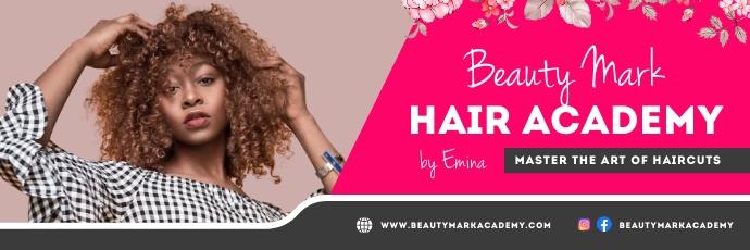 Pink Hair Salon Twitter Header template