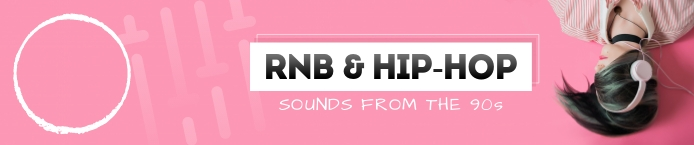 Pink Hip Hop Soundcloud Banner Soundcloud-banner template