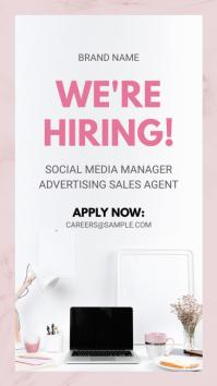 Pink Hiring Now Instagram Story Advertisement