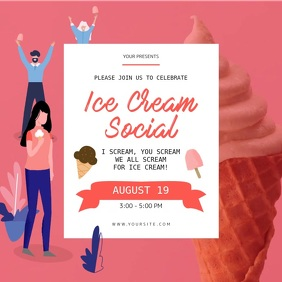 Pink Ice Cream Social Instagram Video