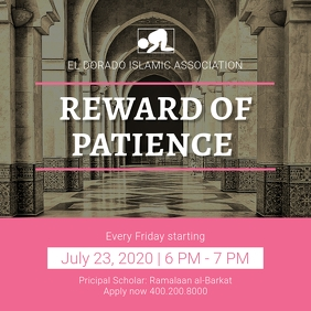 Pink Islamic Sermon Invitation Instagram
