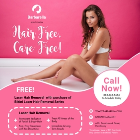 Pink Laser Hair Removal Template Instagram Post