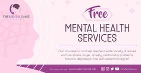 Pink Mental Heath Service Facebook Ad template