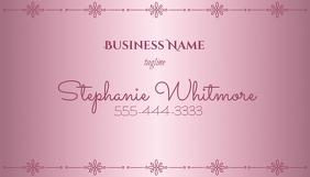 Pink Metallic Shine Business Card