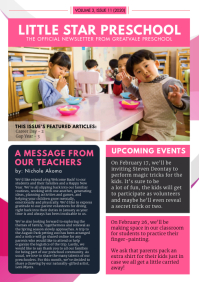 Pink Middle School Newsletter Custom Design