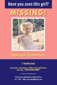 Pink Missing Girl Poster