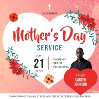 Pink Mother's Day Church Service Square Video