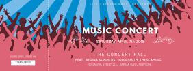 Pink Music Concert Ticket Template