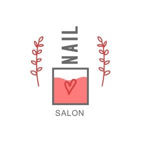 Pink Nail Salon Logo