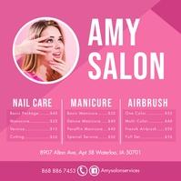 Pink Nail Salon Pricelist Publicación de Instagram template