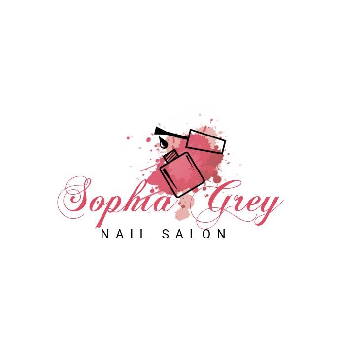 Pink nail salon template Logo