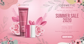 Pink New Cosmetics Line Up Facebook Shop Cove template
