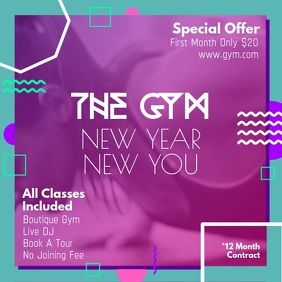 Pink New Year Gym Deal Square Video