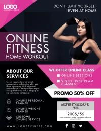 Pink Online Fitness Workout Regime Flyer Adve