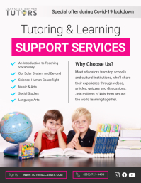 Pink Online Tutoring Services Flyer