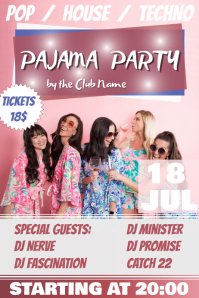 Pink Pajama Party Poster