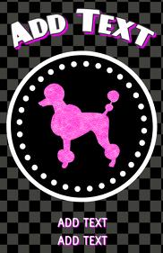 pink poodle - dog grooming