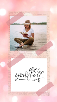 Pink Quote & Photo Instagram Stories template