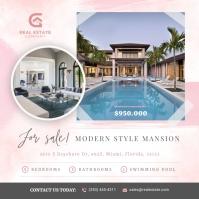 Pink Real Estate Instagram Image template