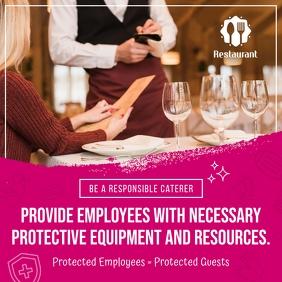 Pink Restaurant Reopening Instagram Image