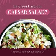 Pink Restaurant Salad Instagram Image