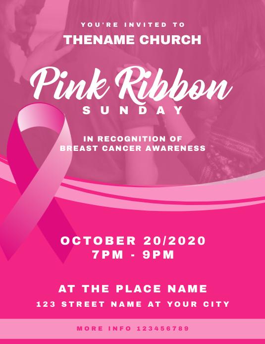 Pink Ribbon Sunday Breast Cancer Awareness