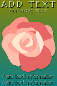 pink rose on green gradient