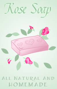pink rose soap all natural and homemade