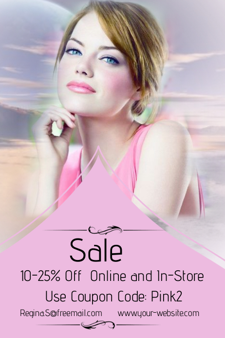 Pink Sale Event Template
