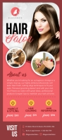 Pink Salon Rack Card template