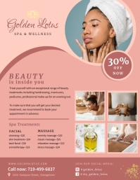 Pink Spa Advertisement Flyer