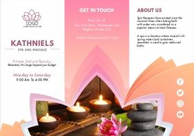Pink Spa Brochure Tri-fold Template