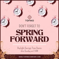 Pink Spring Forward Instagram Image template