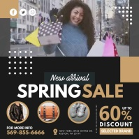 Pink Spring Sale Instagram Video Template Persegi (1:1)