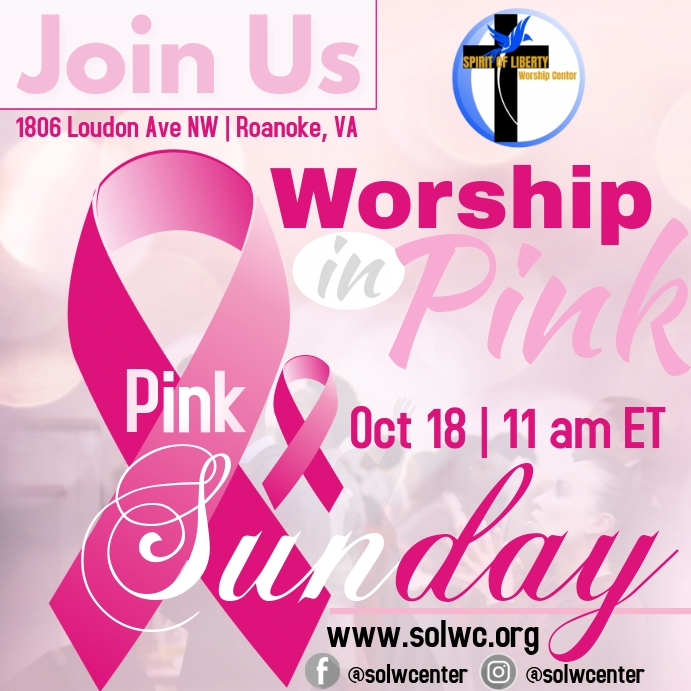 Pink Sunday Worship in Pink