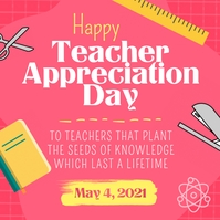 Pink Teacher Appreciation Day Instagram Image template