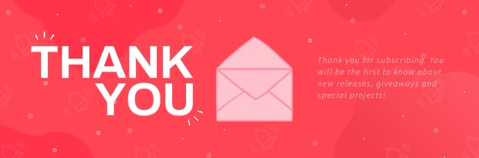 Pink Thank You Animated Email Header template
