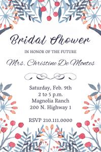 Floral Firework Bridal Shower Invite