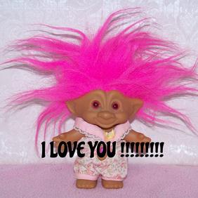 Pink troll love