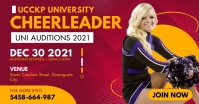 Pink University Cheerleader Tryout Facebook P template