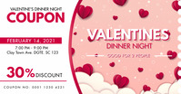 Pink Valentine's Day Coupon Facebook Post Tem template