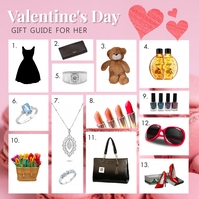 Pink Valentine's Gift Guide for Her Instagram template