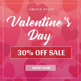 Pink Valentine's Sale Instagram Image